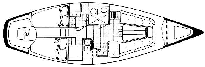 Endeavour 37 A Plan Layout